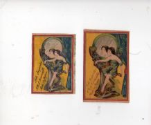 Collectible  match box labels CHINA or JAPAN patriotic #837